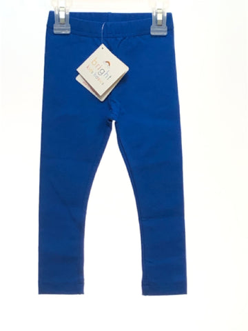Girl's Hanna Andersson SIZE 3 Blue NEW Solid Leggings