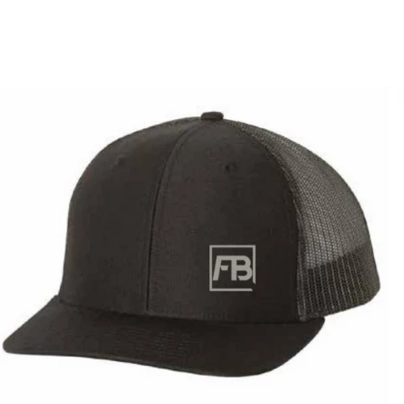Forwardbite Trucker Hat in Black/Charcoal Snapback