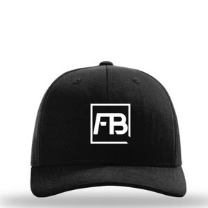Forwarbite Trucker Hat in Black/Black Snapback