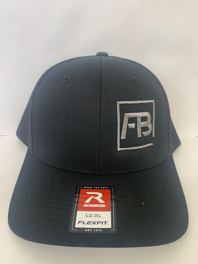 Forward Bite Fitted Hat Black/Black