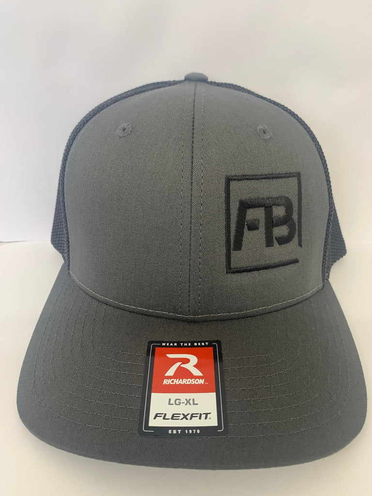 Forward Bite Fitted Hat Charcoal/Black