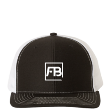 Forwardbite Trucker Hat in Black/White Snapback
