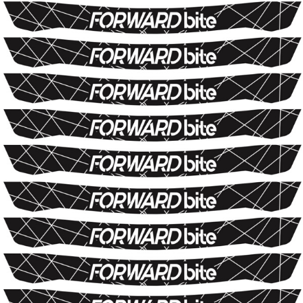 Forwardbite Visor Decals With Lines