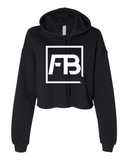 Ladies Cropped Fleece Hoodie