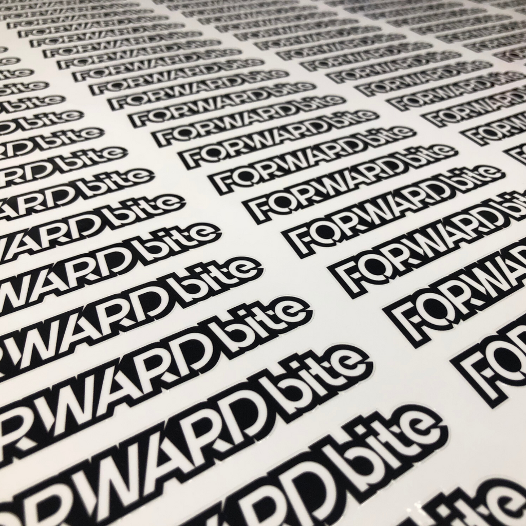 "FORWARDbite Decals (5"" to 48"")"