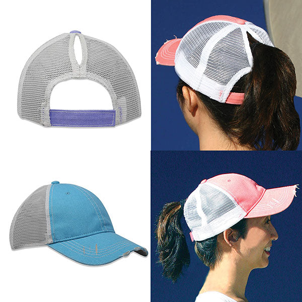 2021 Spring Edition- Ladies Distressed Pony-Tail Snapback