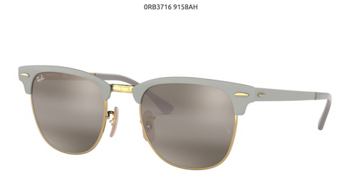 RAY-BAN CLUBMASTER METAL- MATTE GREY ON ARISTA