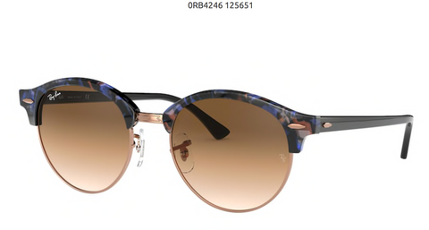 RAY-BAN CLUBROUND- SPOTTED BROWN/BLUE