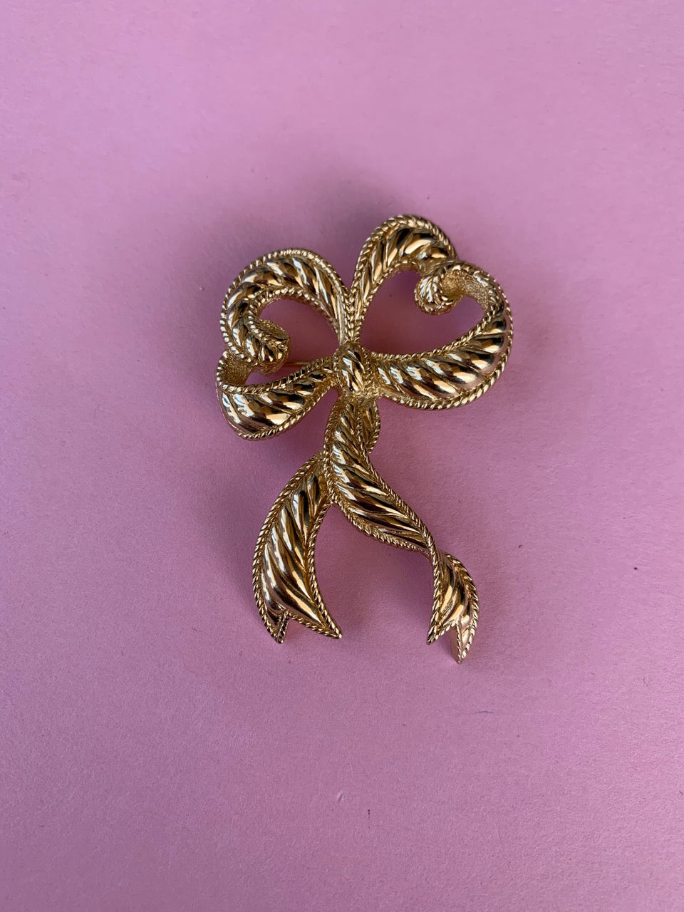 1980s Christian Dior ribbon bow brooch