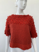 Load image into Gallery viewer, 2000s Issey Miyake Cauliflower one size brick red knit top