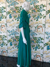 Load image into Gallery viewer, 1940s Dorian floor length wrap dress for Franklin Simon department store