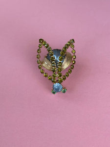 1950s fly bug encrusted with rhinestones