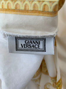 Gianni Versace 1990s Barocco gold & white king duvet cover