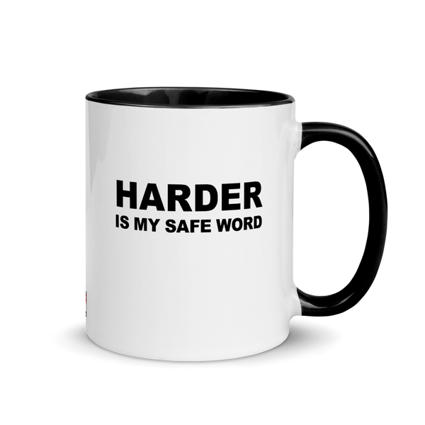 Harder Is My Safe Word Mug