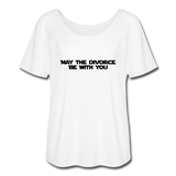 May The Divorce Be With You Women's Flowy T-Shirt - white