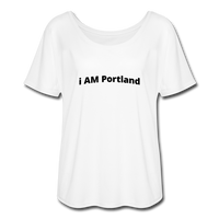I AM Portland Women's Flowy T-Shirt - white