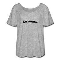 I AM Portland Women's Flowy T-Shirt - heather gray