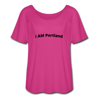 I AM Portland Women's Flowy T-Shirt - dark pink