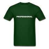 Professional Men's T-Shirt in black - forest green