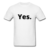 Yes / No Men's T-Shirt - white