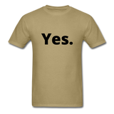 Yes / No Men's T-Shirt - khaki