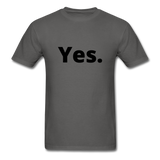 Yes / No Men's T-Shirt - charcoal
