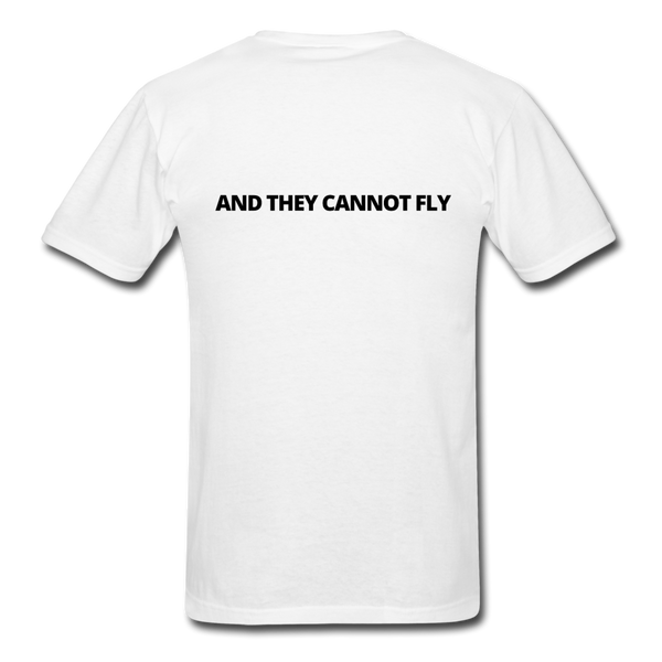 I Like King Penguins & They Cannot Fly Men's T-Shirt - white