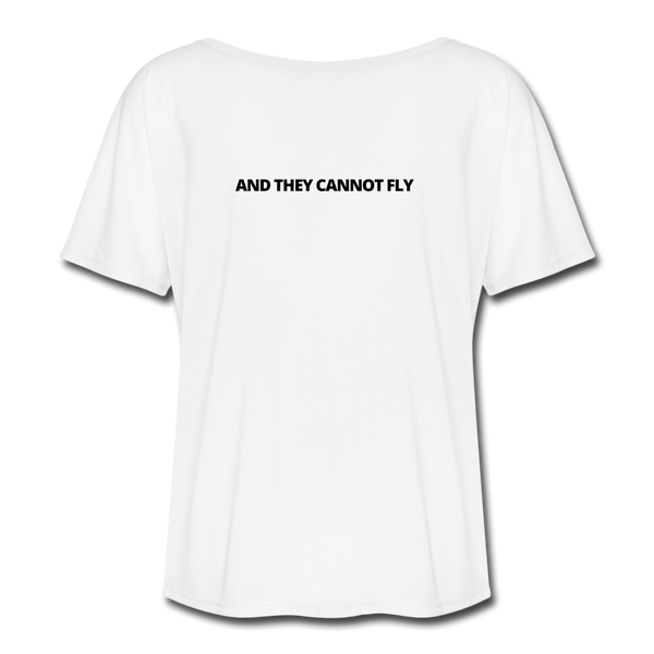 I Like King Penguins and They Cannot Fly Women's Flowy T-Shirt - white