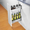 KKPL Kitchen Cabinet Under-Mount Narrow Pull Out Basket Storages