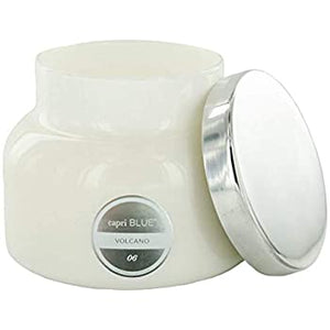 Capri Blue Volcano White Jar Candle
