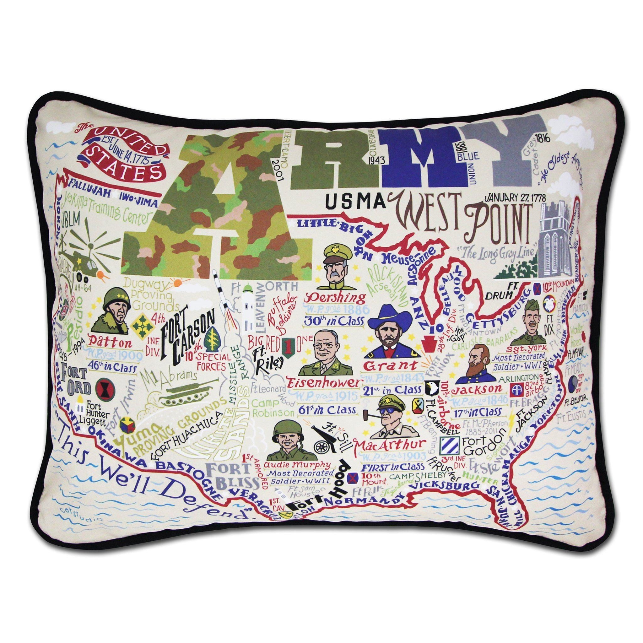 Cat Studio Army Printed Pillow