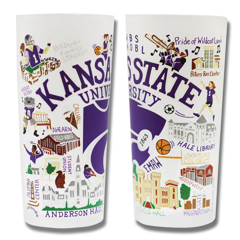 Cat Studio Kansas State University Drinking Glass