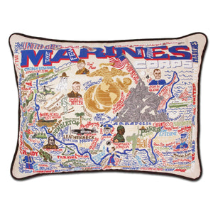 Cat Studio Marines Embroidered Pillow
