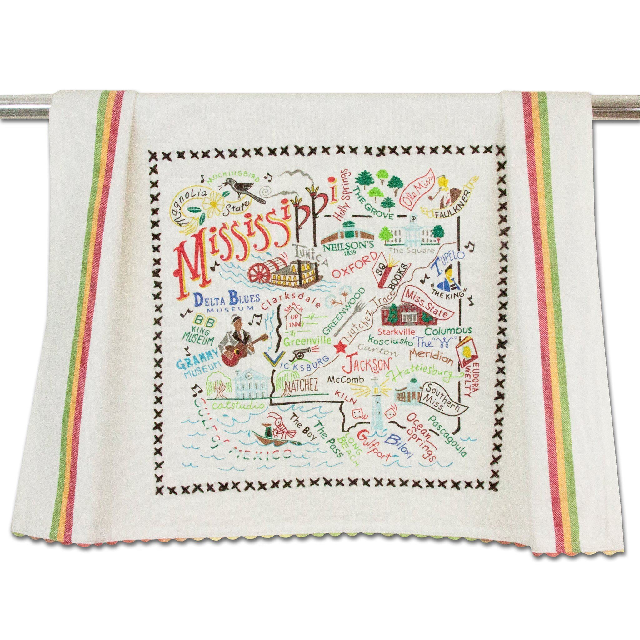 Cat Studio Mississippi Dish Towel