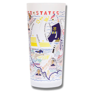 Cat Studio Navy Drinking Glass