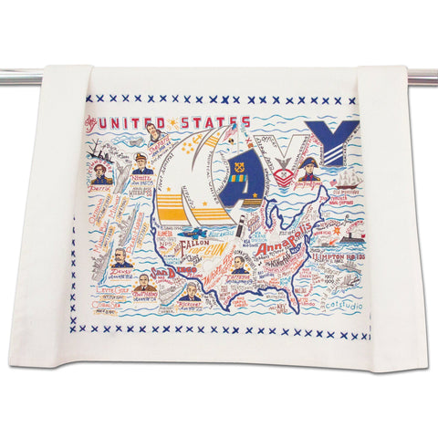 Cat Studio Navy Dish Towel