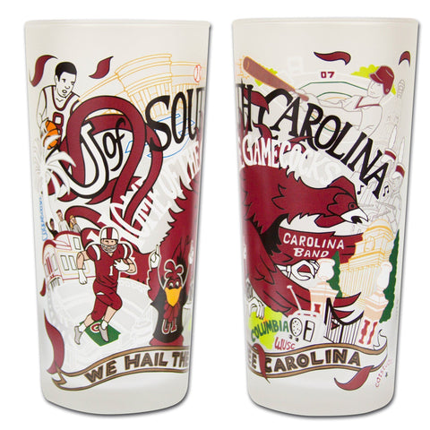 Cat Studio University of South Carolina Drinking Glass