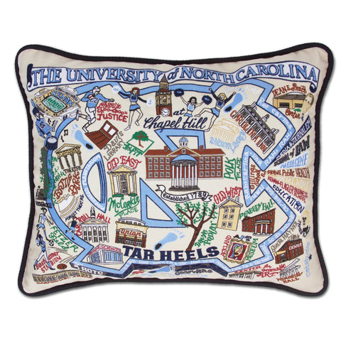 Cat Studio University of North Carolina Embroidered Pillow