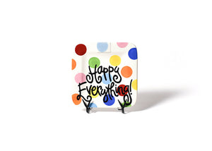 Happy Everything Bright Dot Plate (Small)