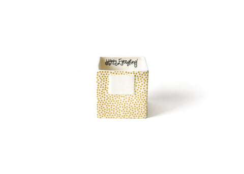 Happy Everything Gold Dot Small Nesting Cube