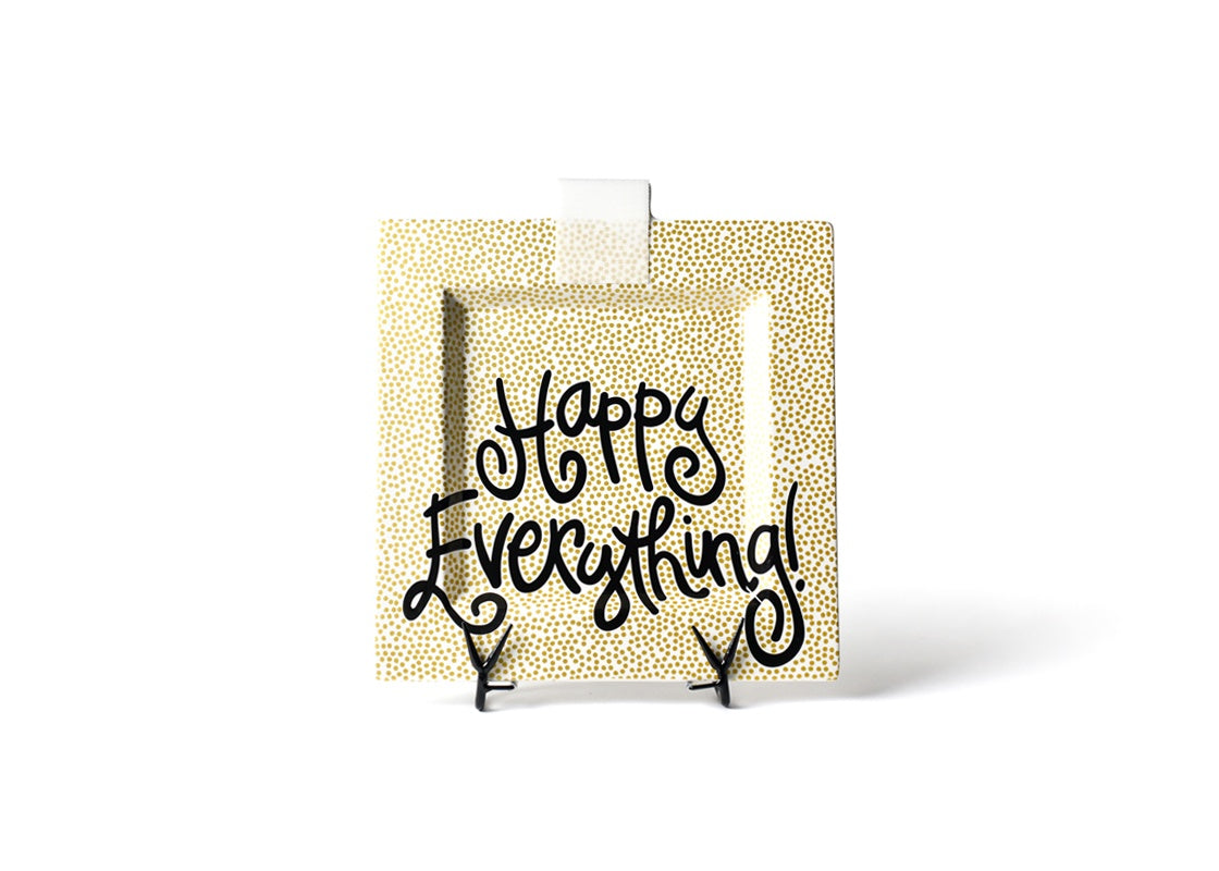 Happy Everything Gold Dot Square Plate (Big)