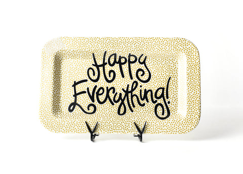 Happy Everything Gold Dot Rectangle Platter