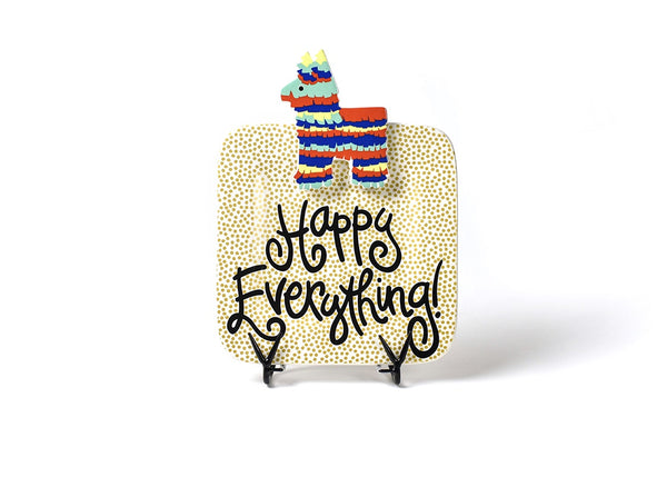 Happy Everything Gold Dot Square Plate (Small)