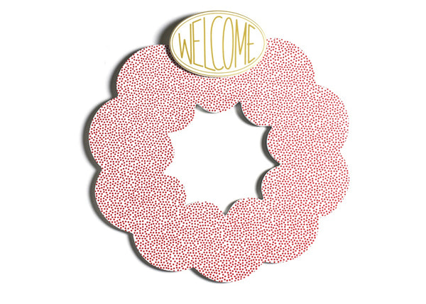 Happy Everything Red Small Dot Big Wooden Wreath