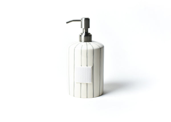 Happy Everything Stone Stripe Cylinder Soap Pump