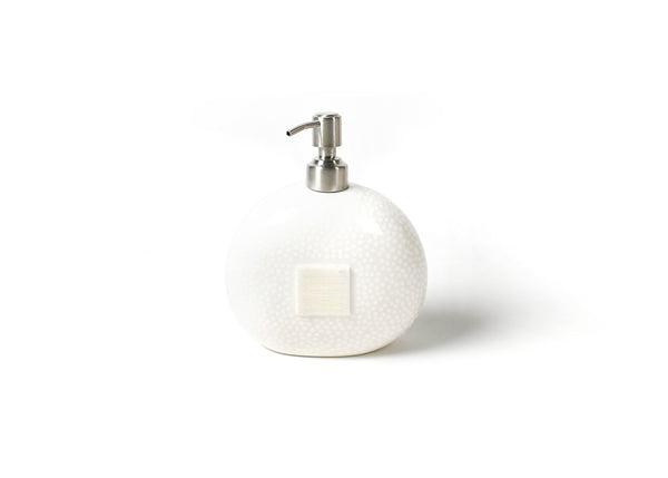 Happy Everything White Small Dot Soap Pump