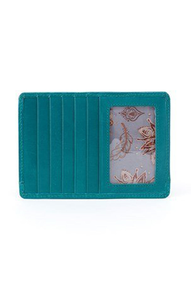 Copy of Hobo Euro Slide Credit Card Case (Turquoise)
