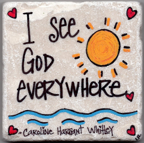 Care's Coasters- I See God Everywhere