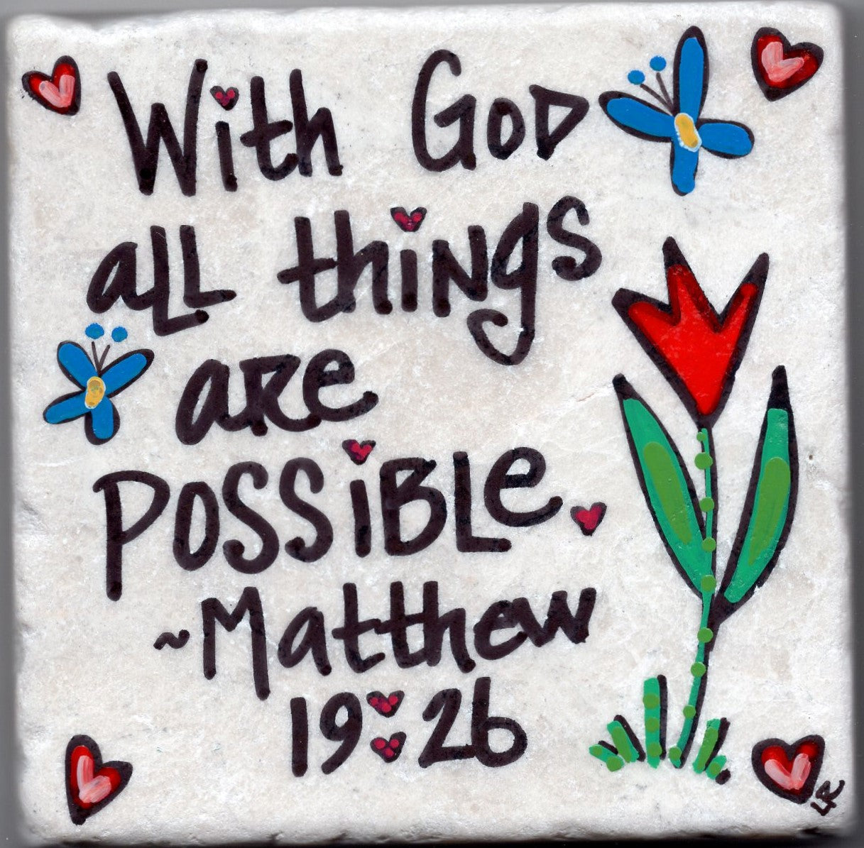 Care's Coasters - With God All Things Are Possible