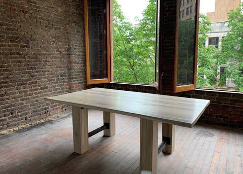 Industrial Wood Table